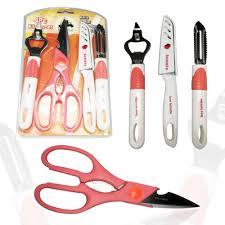 4 pc set knife peeler bottle opener and scissors best home