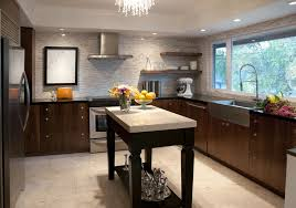 Recessed Lighting In Kitchen Recessed Lighting Over Kitchen Table With Wood Kitchen Cabinet