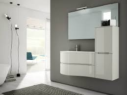 single wall mounted vanity unit with cabinets smyle comp 03 by idea