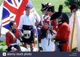 British Flag Dress Historical Re Enactment British Redcoats 1815 Union Jack Flag