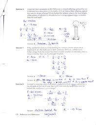 law of reflection worksheet worksheets