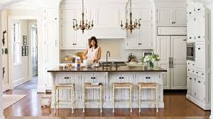 Southern Country Home Decor by Crisp U0026 Classic White Kitchen Cabinets Southern Living