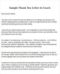 thank you letter to coach cfgcpa org sample letter of