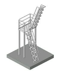 revitcity com object alternating tread industrial stair