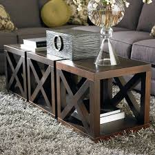 Coffee Table Cube Wooden Motif Designed Cube Table Bassett Furniture