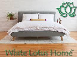 Lotus Bed Frame White Lotus Home Organic Bedding Retail Locations