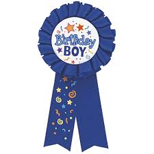 birthday boy birthday boy award ribbon from all you need to party uk