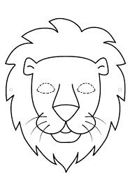 masque lion noir et blanc so cool pinterest lion noir