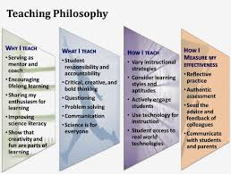 educational philosophy and practice teaching philosophy