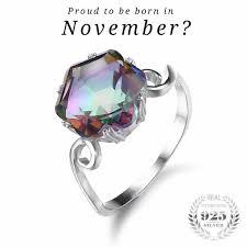 birthstone ring mystic topaz november birthstone ring oriannas