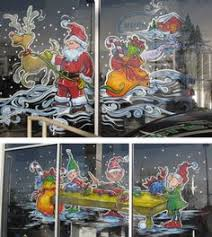 Christmas Window Glass Decorations by Christmas Window Painting Window Painting Seasons Spring Summer