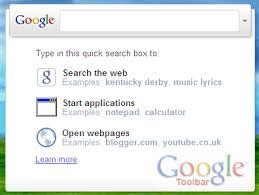Windows Search Box - install google toolbar 6 get quick search box