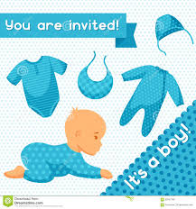 it is a boy baby shower invitation stock vector image 63357298