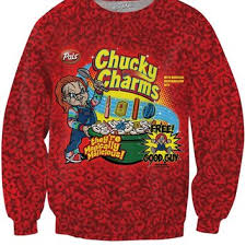 chucky sweater chucky charms crewneck sweater from rageon clothes
