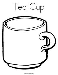 tea cup coloring twisty noodle