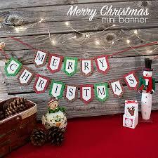 merry christmas banner mini merry christmas banner and printables hop the