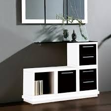meubles entrée design meuble d entrée design blanc et noir avec miroir leonardo meuble