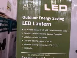 altair outdoor led coach light costco altair lighting outdoor led lantern