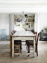 Chic Dining Tables Distressed White Shabby Chic Antique Barn Dining Table
