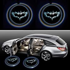 batman signal light projector riorand batdoorlight black wireless car door led projector light 2x