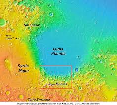 Map Of Libya Past History Of A Wet Mars Seen At Libya Montes Janice Bishop Blog