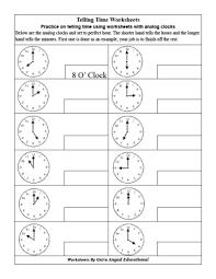 telling time worksheet second grade mathfriendly pinterest