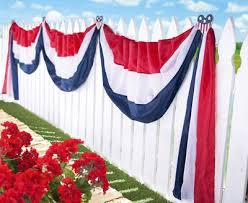 patriotic decorations american hearts patriotic fence bunting from collections etc