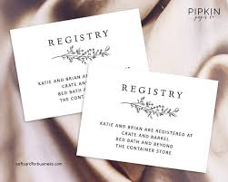 registry bridal wedding invitation new registry inserts for wedding invitations