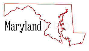 maryland map vector outline map of the state of maryland stock vector colourbox