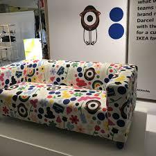 canapé ées 70 canapé moderne droit par colette pour ikea collection 2018 en coton