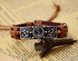 s day bracelet rudder anchor bracelets s day gifts men jewelry genuine