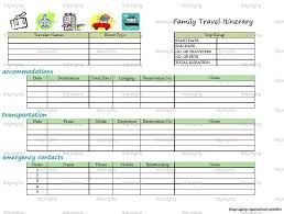 100 travel itinerary excel template travel expense