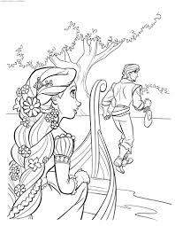 rapunzel and flynn u0026 raquo coloring for kids print free