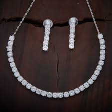 zircon necklace images Zircon necklace 92686 kushal 39 s fashion jewellery jpg