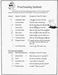 Editing And Proofreading Worksheets Proofreading Symbols The Emporium