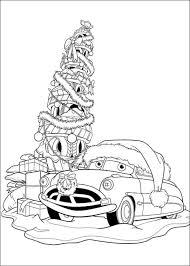kids fun 5 coloring pages cars christmas