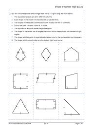 worksheet identifying quadrilaterals queensammy worksheets for