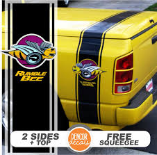 dodge ram decals canada fits dodge ram truck rumble bee sticker bed side stripes