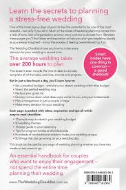 wedding checklist book the wedding checklist free yourself from wedding stress and