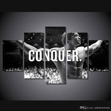2017 canvas paintings home decor wall art frame conquer arnold