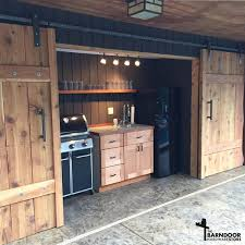 How To Build A Sliding Barn Door The Single Track Bypass Barn Door Hardware Kit Allows Two Doors To