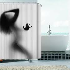 compare prices on silhouette shower curtains bathroom curtain fashion creative sexy girl and women shadow silhouette bath shower curtain waterproof bathroom curtain home decoration