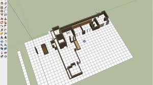 Frank Lloyd Wright Floor Plan Contemporary Usonian Floorplan In Google Sketchup Progress Youtube