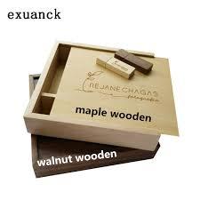 custom photo album exuanck custom unique album maple walnut wood box usb 3 0 memory