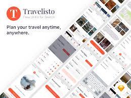 travel ui kit sketchapp free psds u0026 sketch app resources for