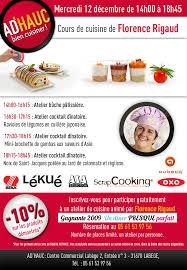 ad hauc cuisine flo et mimolette ateliers cuisine mercredi 12 décembre à labege 31