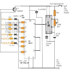 bar graph turn light indicator circuit for car
