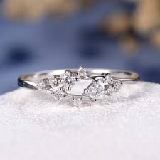 floral wedding band unique diamond cluster ring twig engagement ring floral wedding