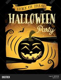 happy halloween clipart banner halloween party happy halloween poster with laugh pumpkin vector