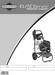 briggs u0026 stratton pressure washer 20263 user guide manualsonline com